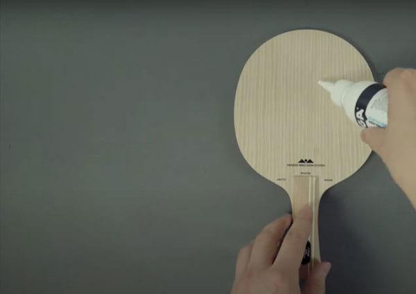 assembling a ping pong paddle